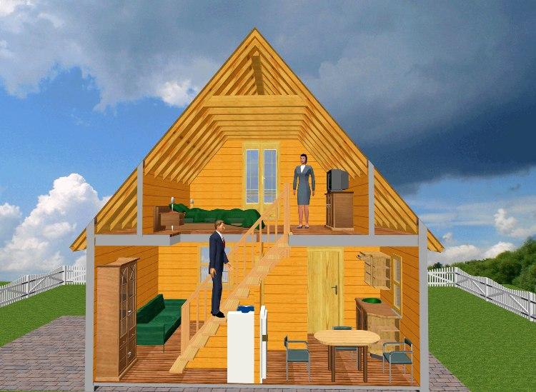 Двухэтажный коттедж своими руками